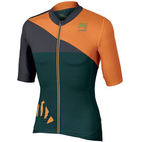 Karpos Verve SS Jersey Men, deep teal/orange fluo/dark grey